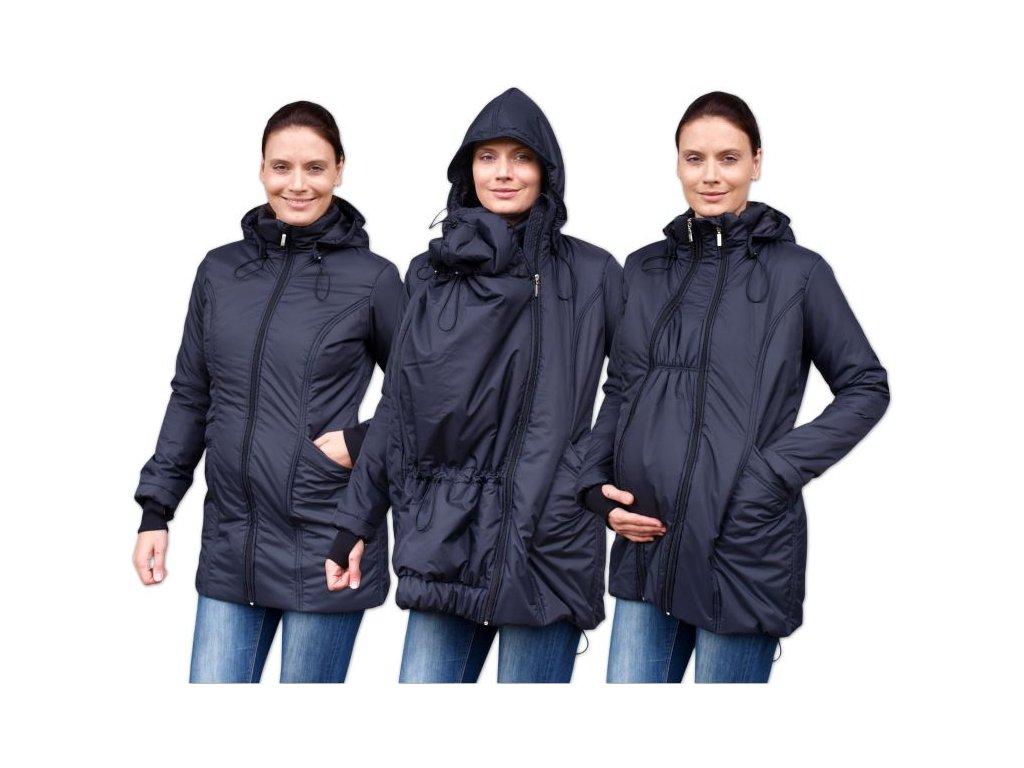 zora zimni vyteplena bunda pro tehotne a nosici zeny cerna