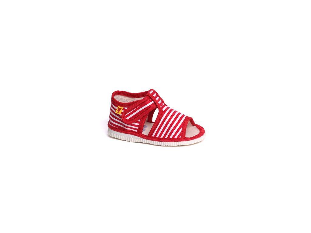 detska obuv papuce cerveny pasik 94.thumb 409x369