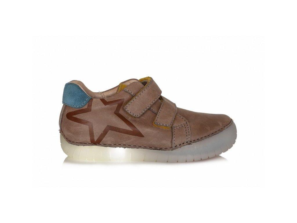 D.D.STEP LIGHT svietiace kožené topánky - Chocolate hviezda - Kmart.sk ac1a8fb45cf