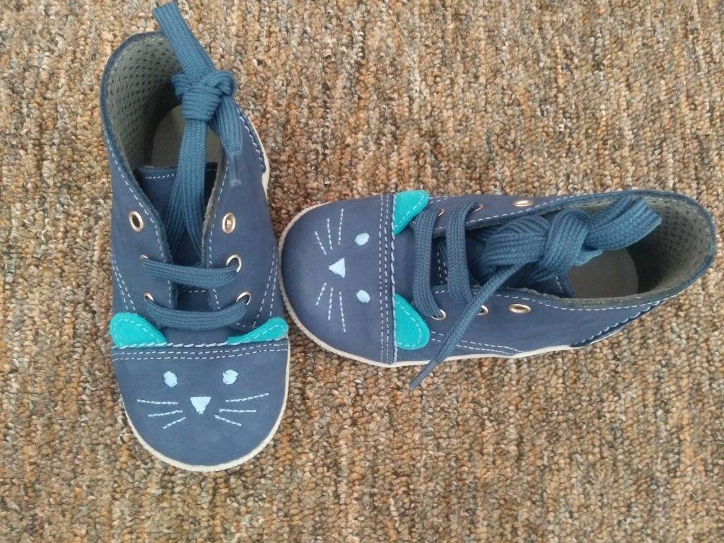 7b491e5897c1 D.D.STEP kožené topánky Grey zelený pásik - Kmart.sk