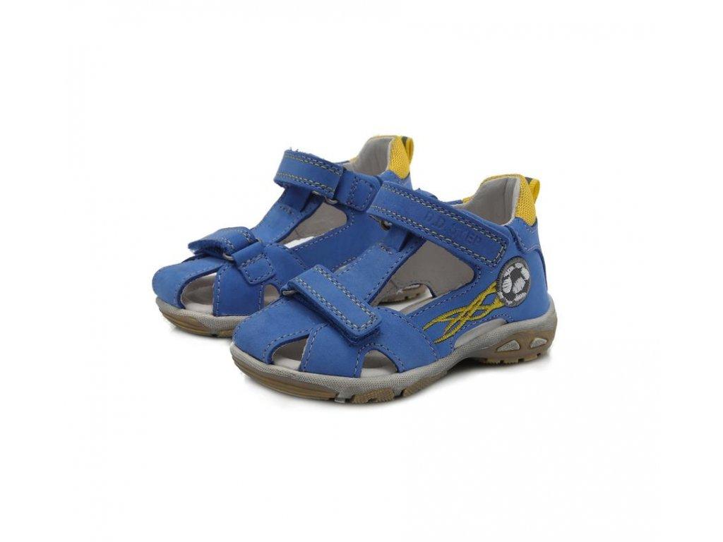 7addad949906 D.D.STEP Kožené sandálky bermuda blue s loptou - Kmart.sk