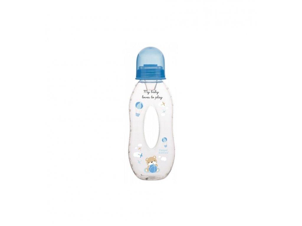 Dojčenská fľaša slza plast - 250ml (6m+) Modrá