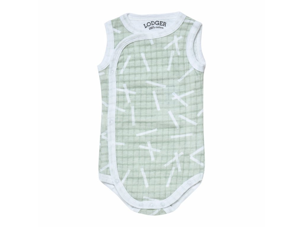 LODGER Body Romper Fold Over Scandinavian Print Leaf