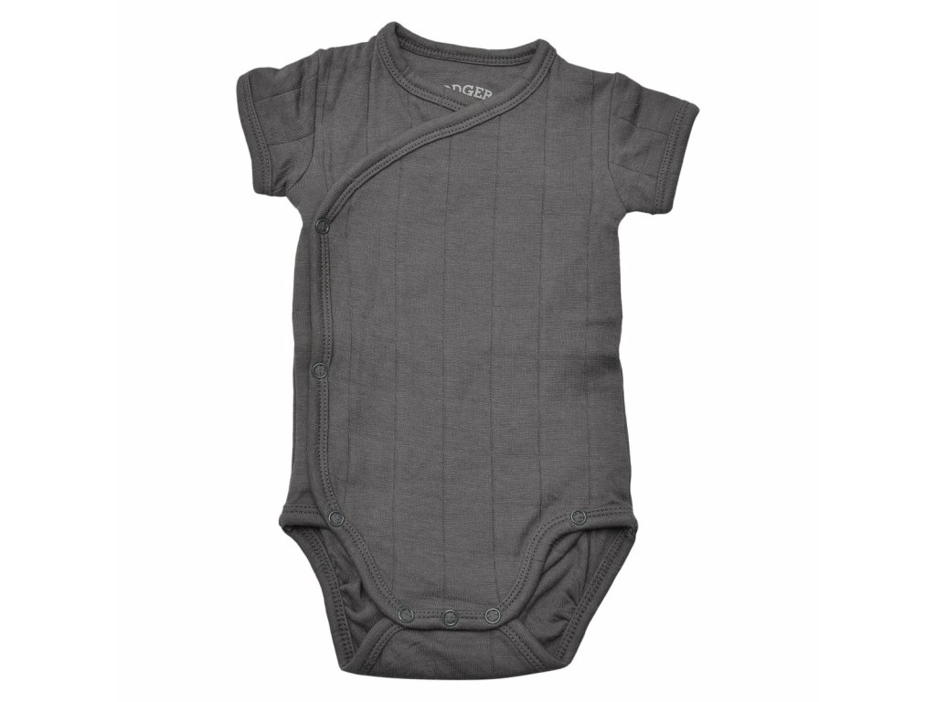 LODGER Body Romper Solid Short Sleeves Carbon