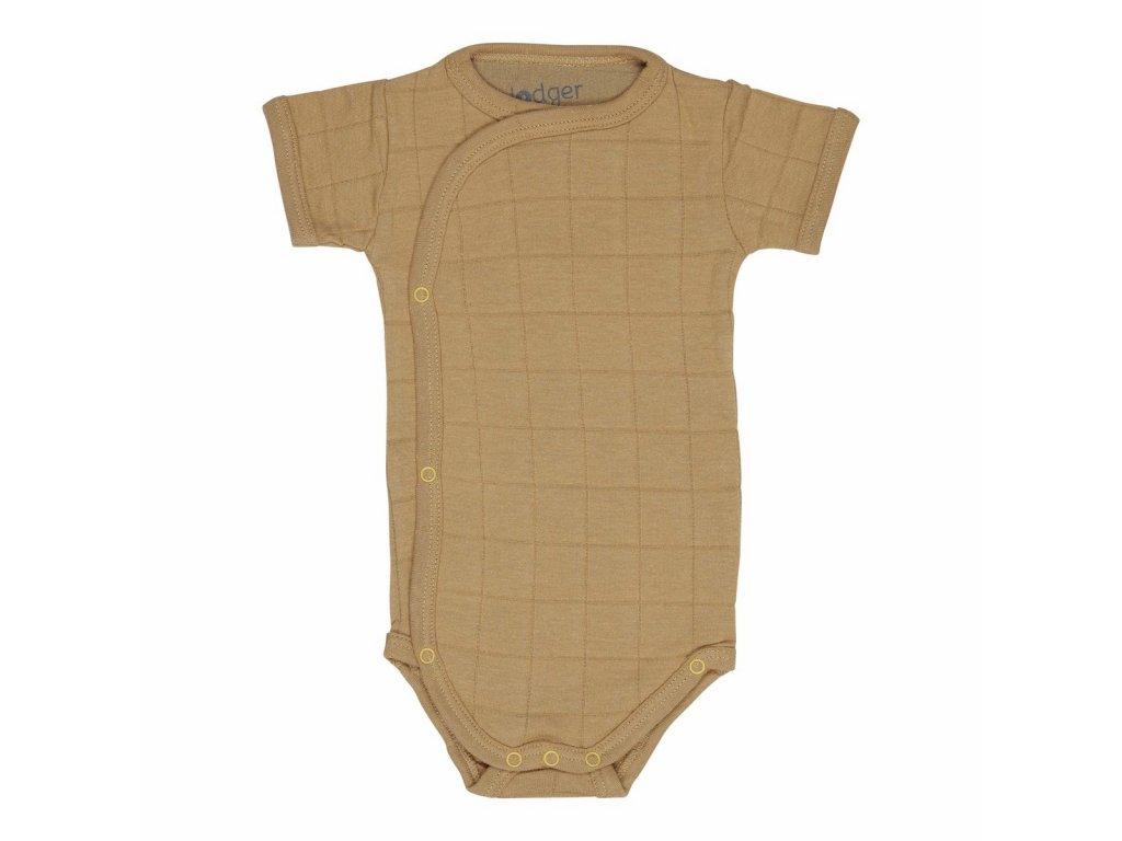 LODGER Body Romper Solid Short Sleeves Honey