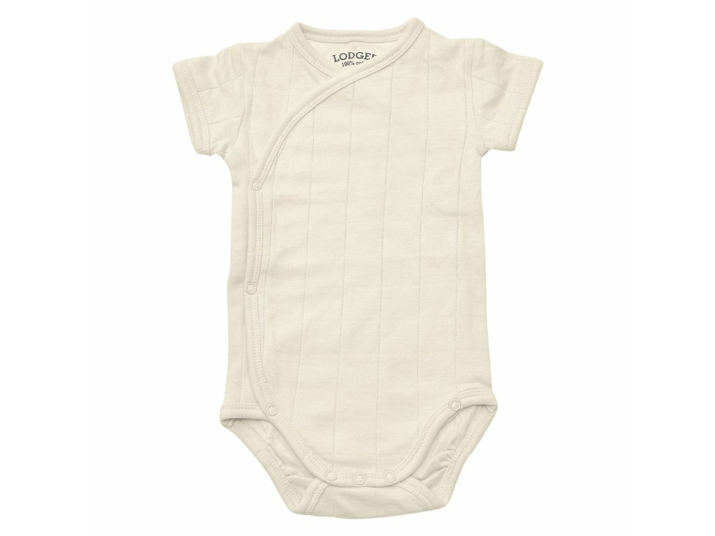 LODGER Body Romper Solid Short Sleeves Ivory