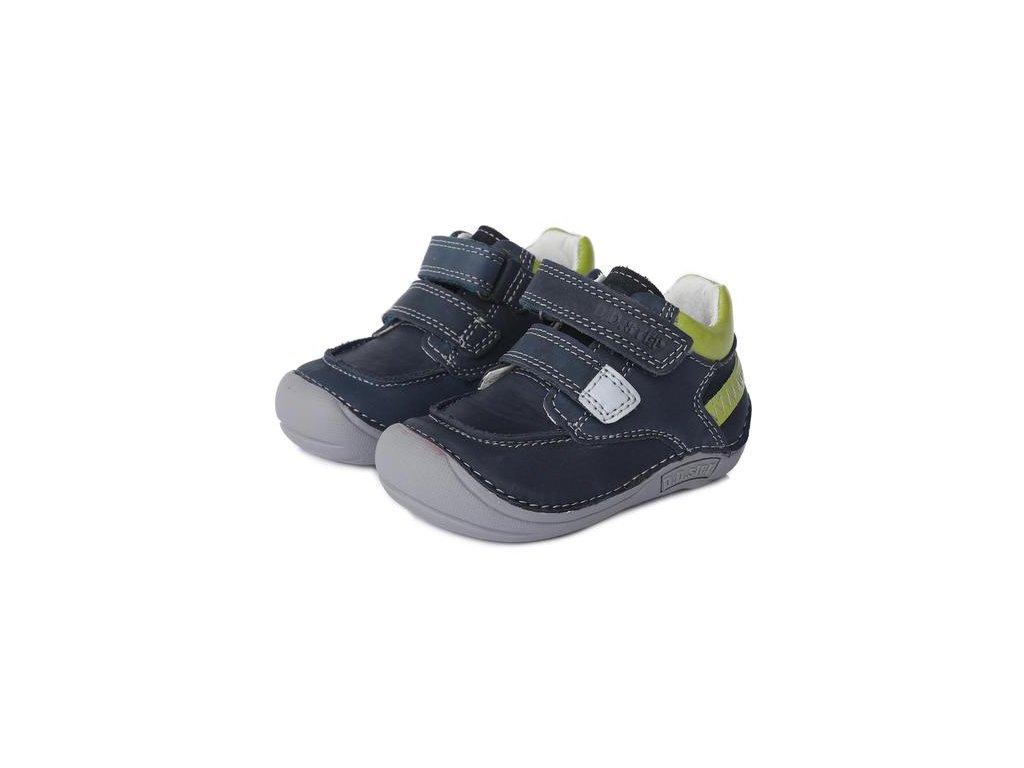 D.D.STEP kožené topánky Bare Feet 018 - Royal Blue