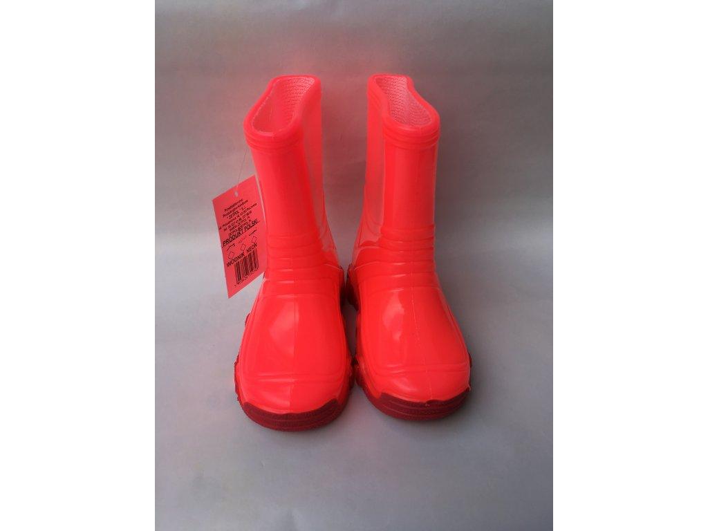 Zetpol gumáky Neon Vodník - rúžová