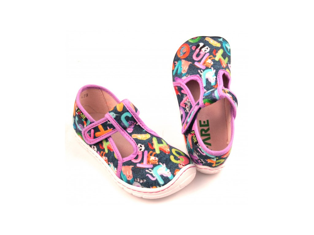Fare Bare detské papučky - písmenká