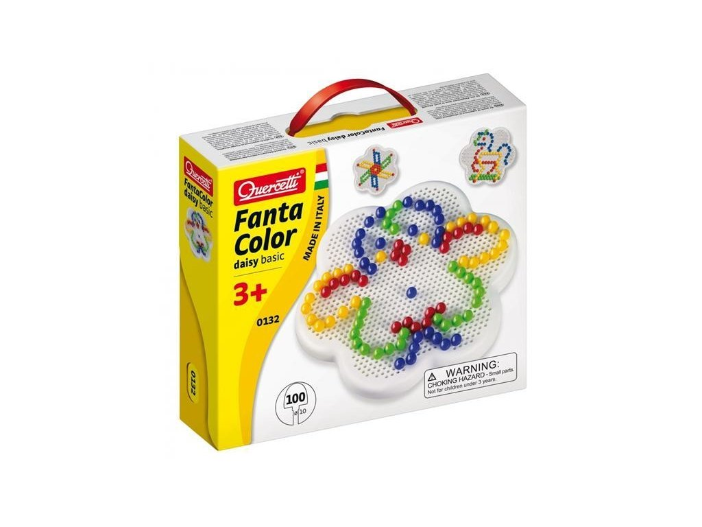 Quercetti Fantacolor Daisy Basic - 10 mm – 100 ks