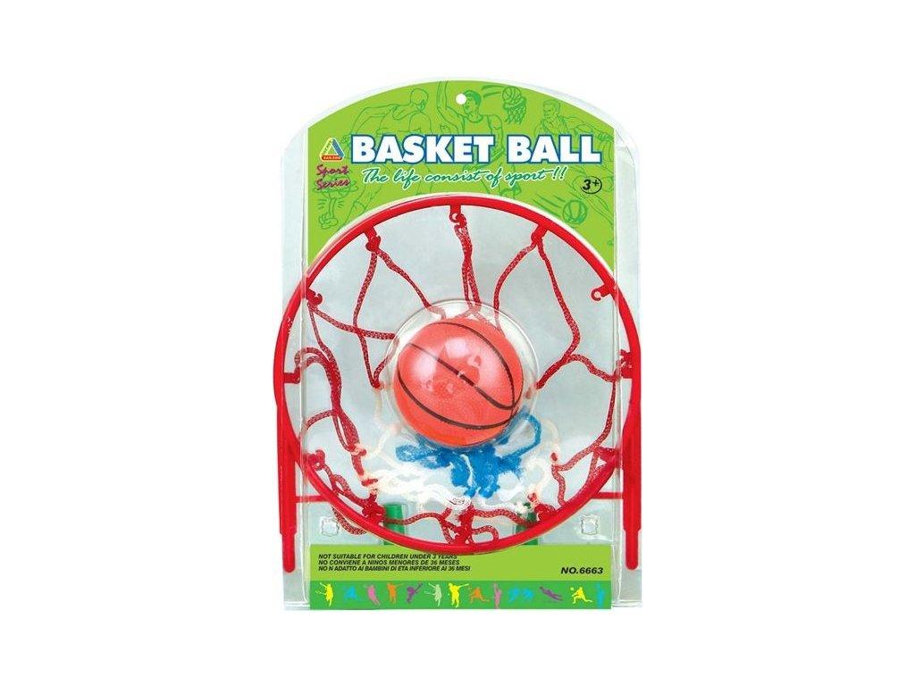 Basketbalový kôš s nafukovaciou loptou