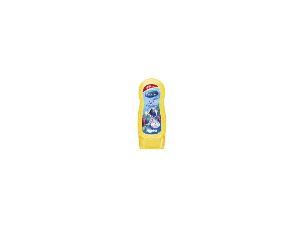 Bübchen Kids šampón a sprchový gél + balzam 2v1 Dory 230ml