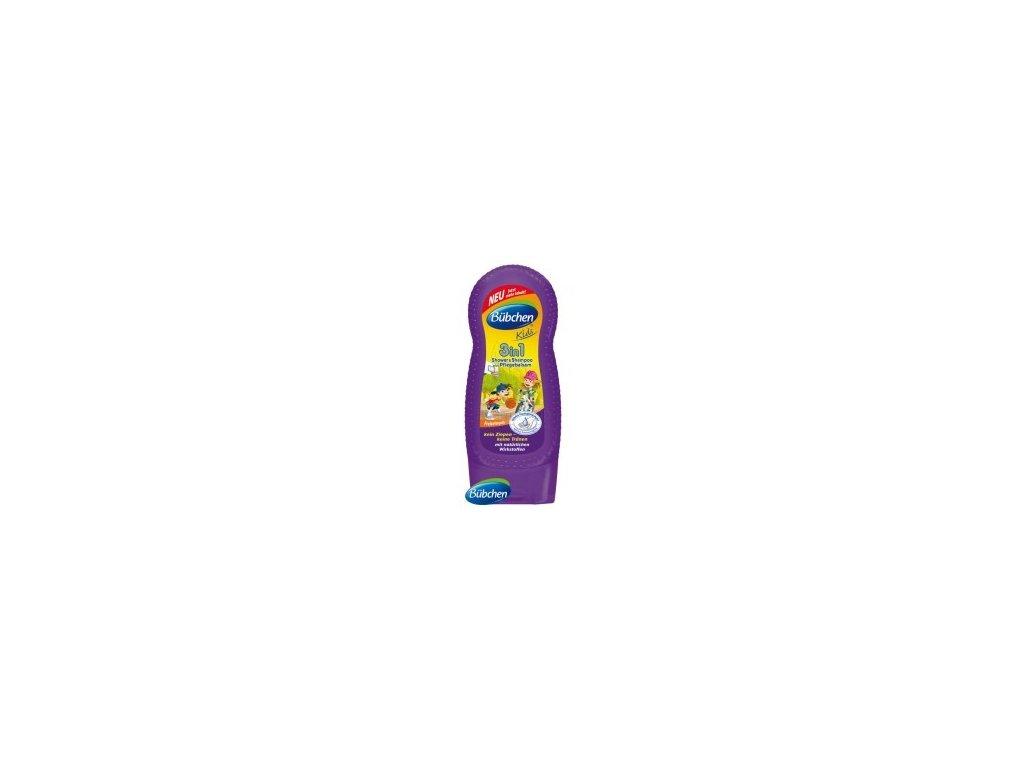 Bübchen Kids sprchovací gél, šampón a ošetrujúci balzam na vlasy 3v1 230ml