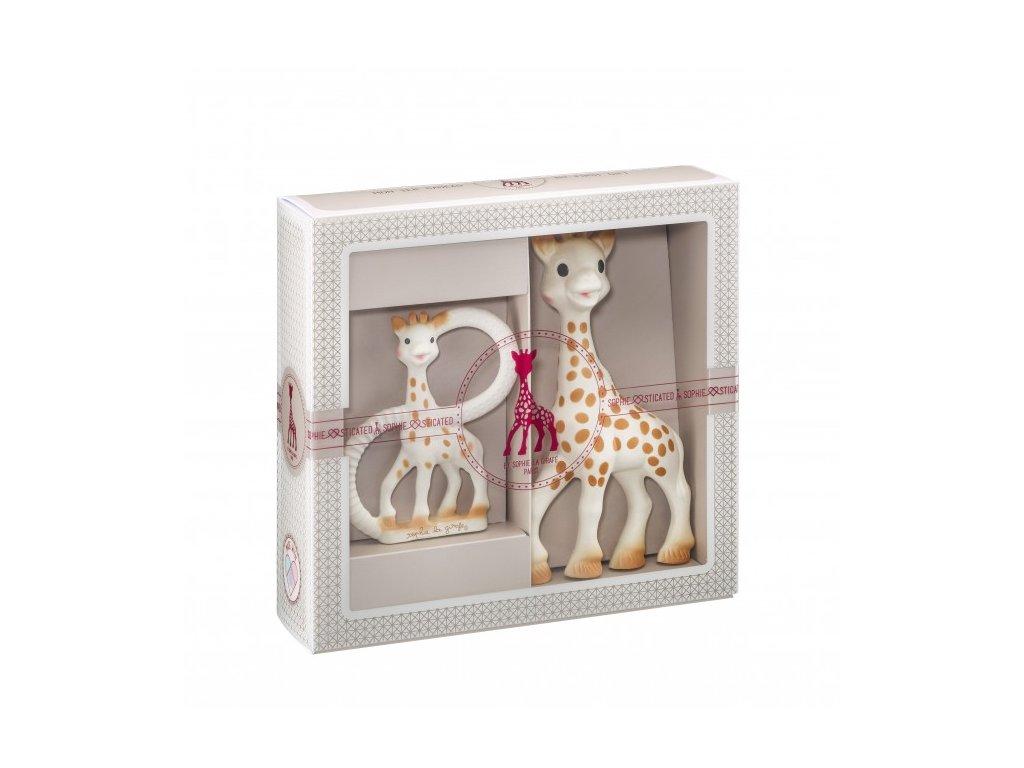 Vulli môj prvý darčekový set (žirafa Sophie a hryzací krúžok) Sophiesticated