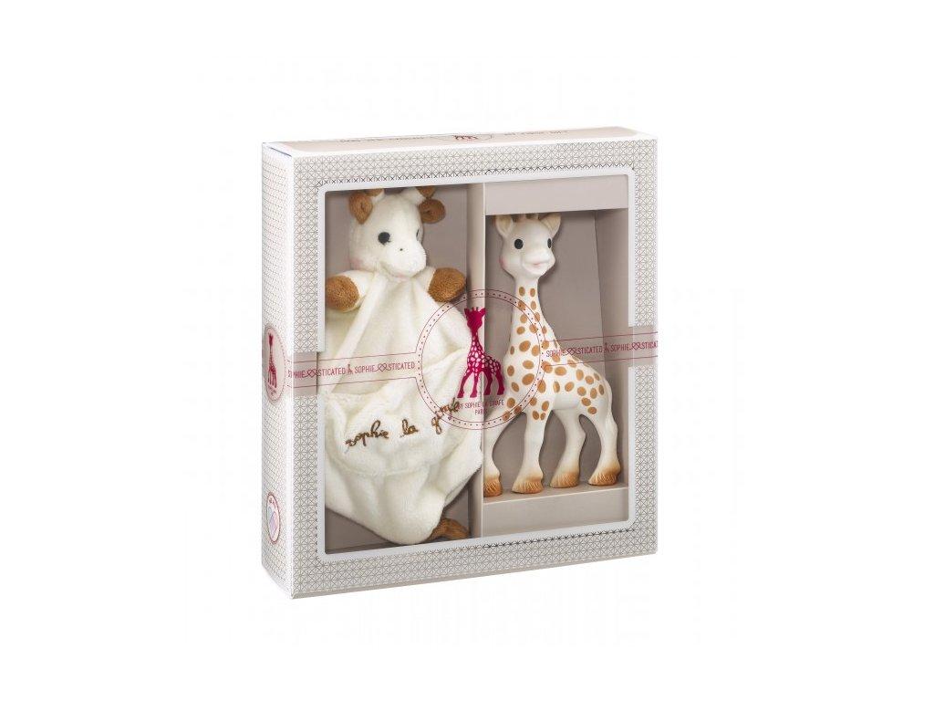 Vulli môj prvý darčekový set žirafa Sophie & maznáčik s klipom pre cumlík