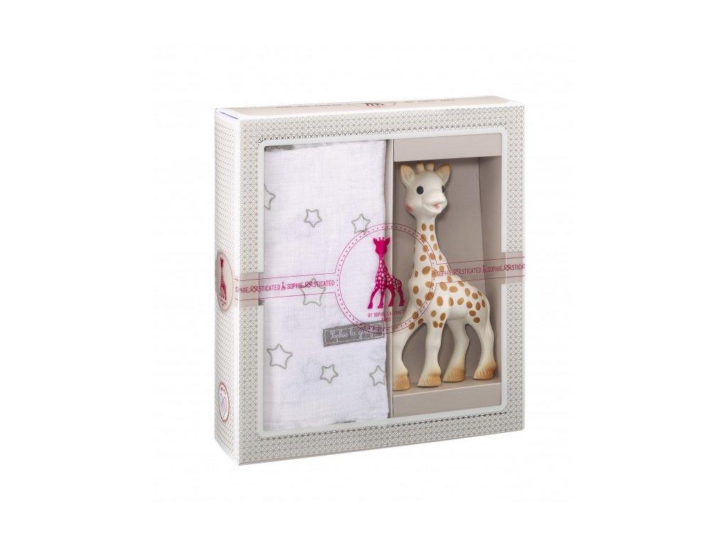 Vulli môj prvý darčekový set (žirafa Sophie & zavinovacia plienka)