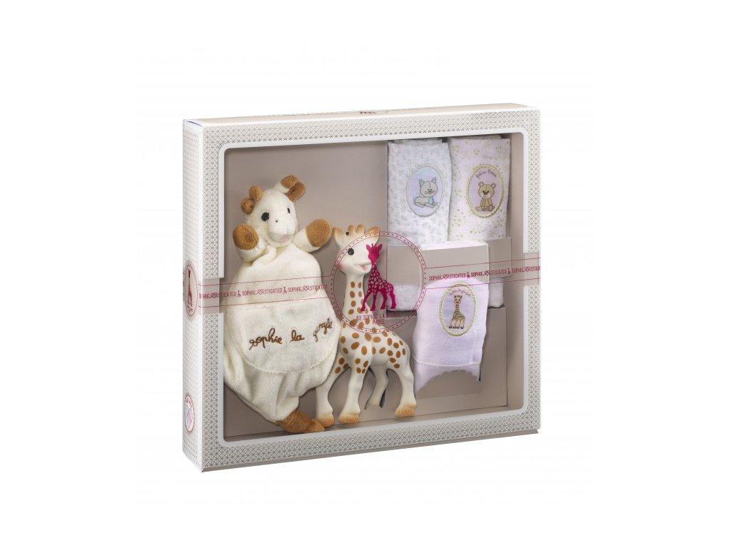 Vulli môj prvý darčekový set (žirafa Sophie, maznáčik a set 3 plienok)