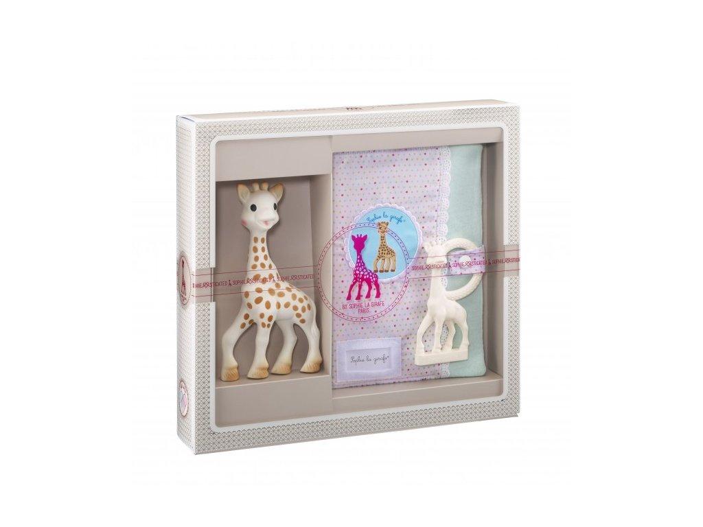 Vulli môj prvý darčekový set (žirafa Sophie, mäkké puzdro a hryzátko)