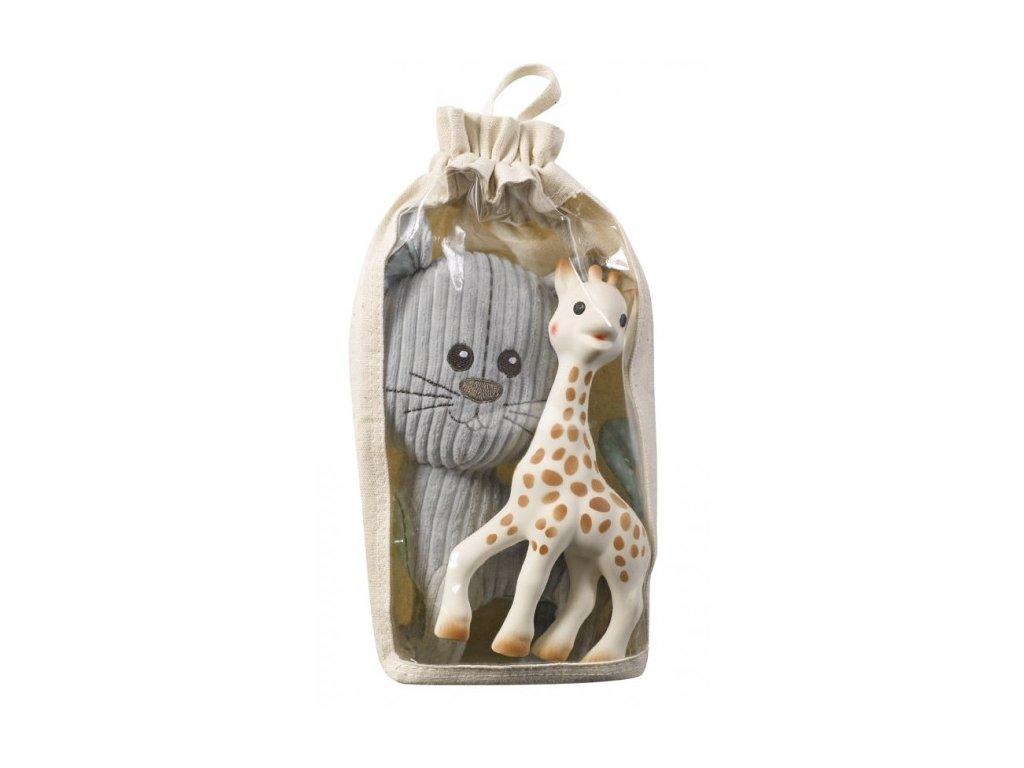 Vulli set kocúr Lazare + žirafa Sophie