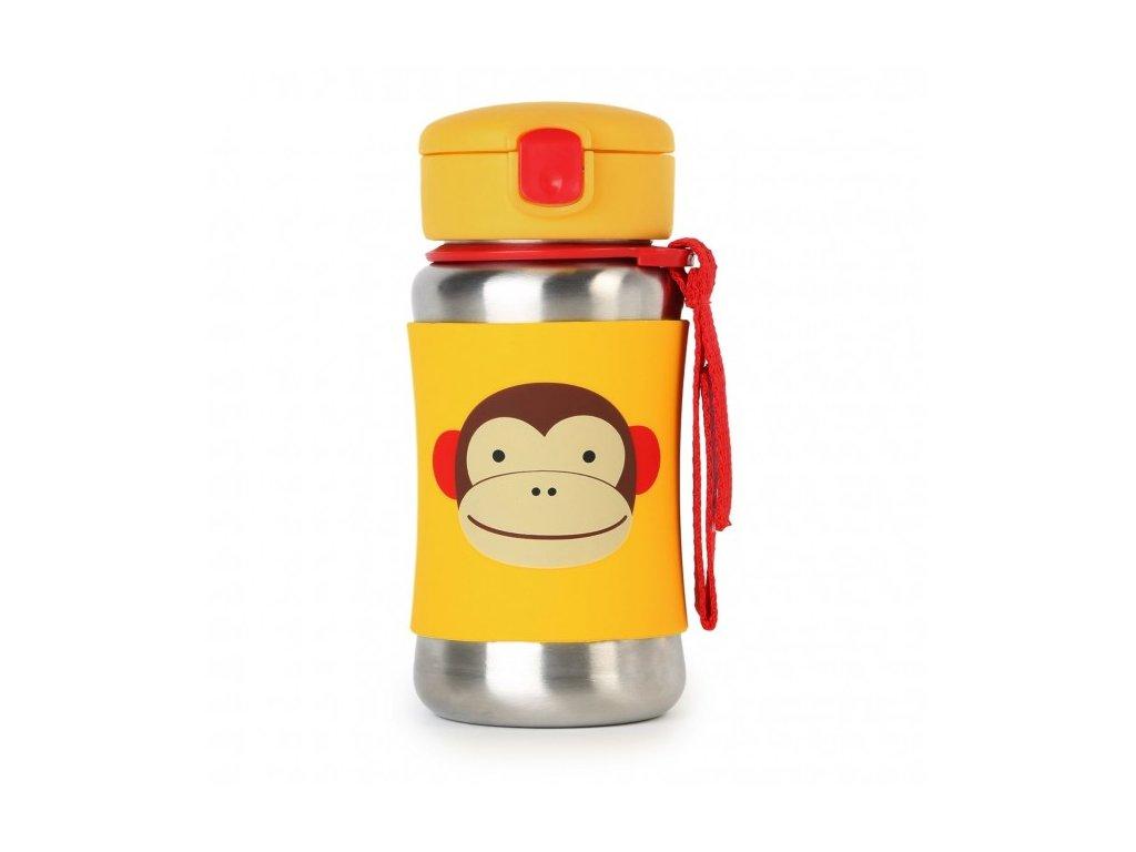 Skip*hop ZOO Nerezová fľaša na vodu - opička