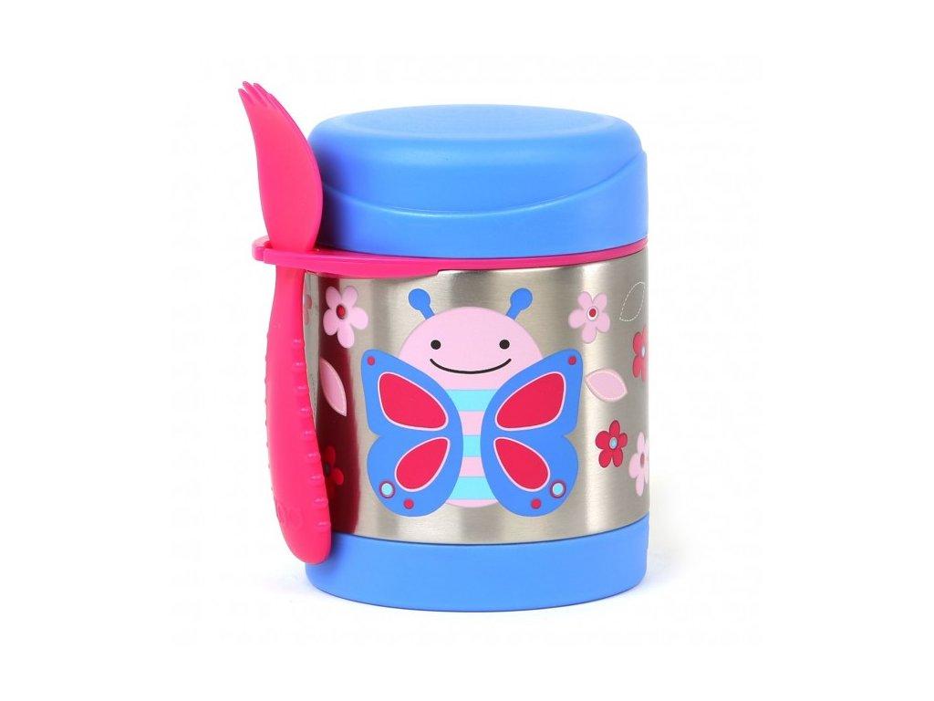 Skip*Hop ZOO termoska na jedlo s vidličkou - motýľ