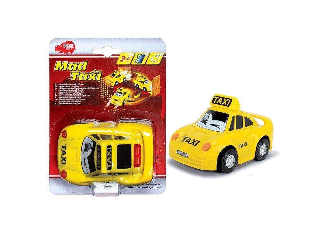 Dickie autíčko Mad Taxi 12cm - svieti a jazdí
