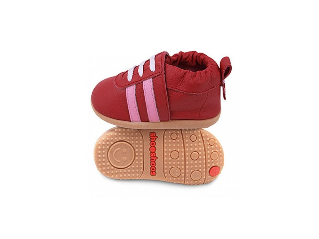 Shooshoos Red sport/ Pink stripes