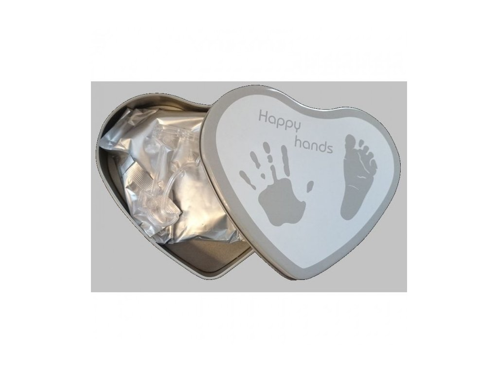 Happy Hands 2D odtlačok Heart Silver/white