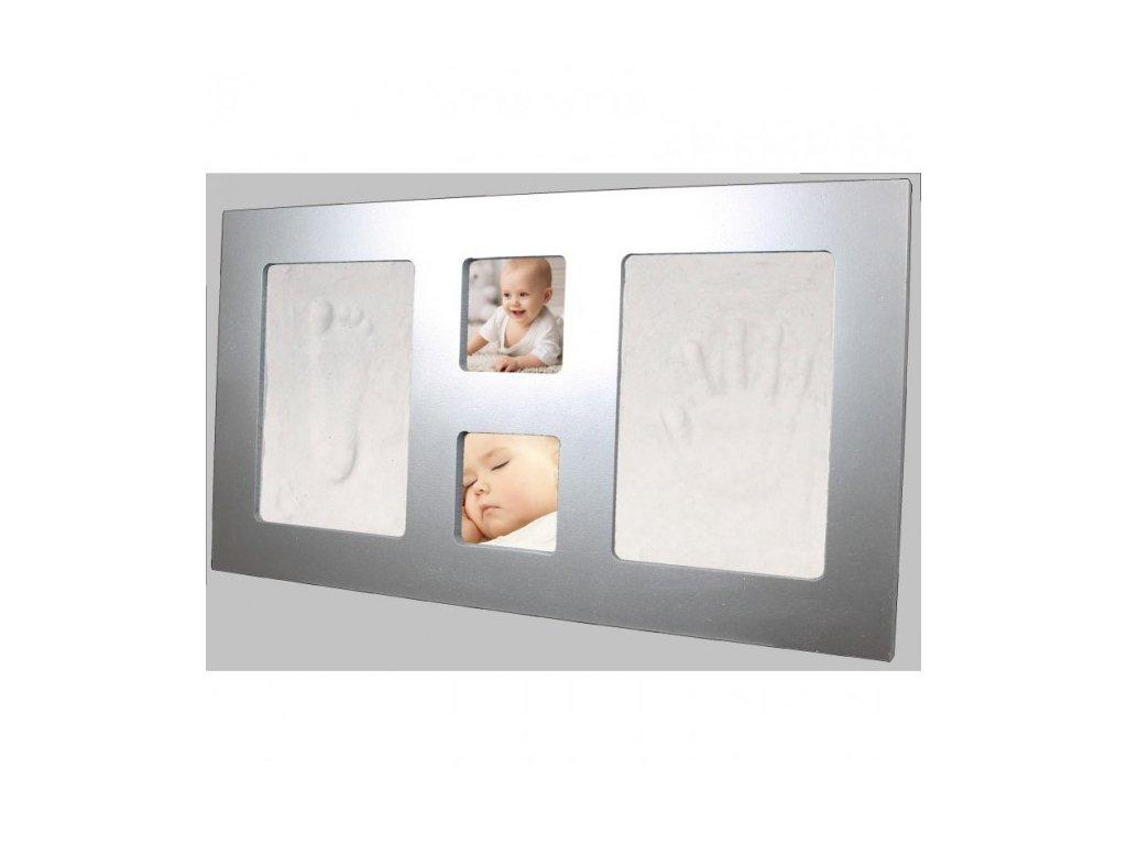 Happy Hands Odtlačok Large frame Silver