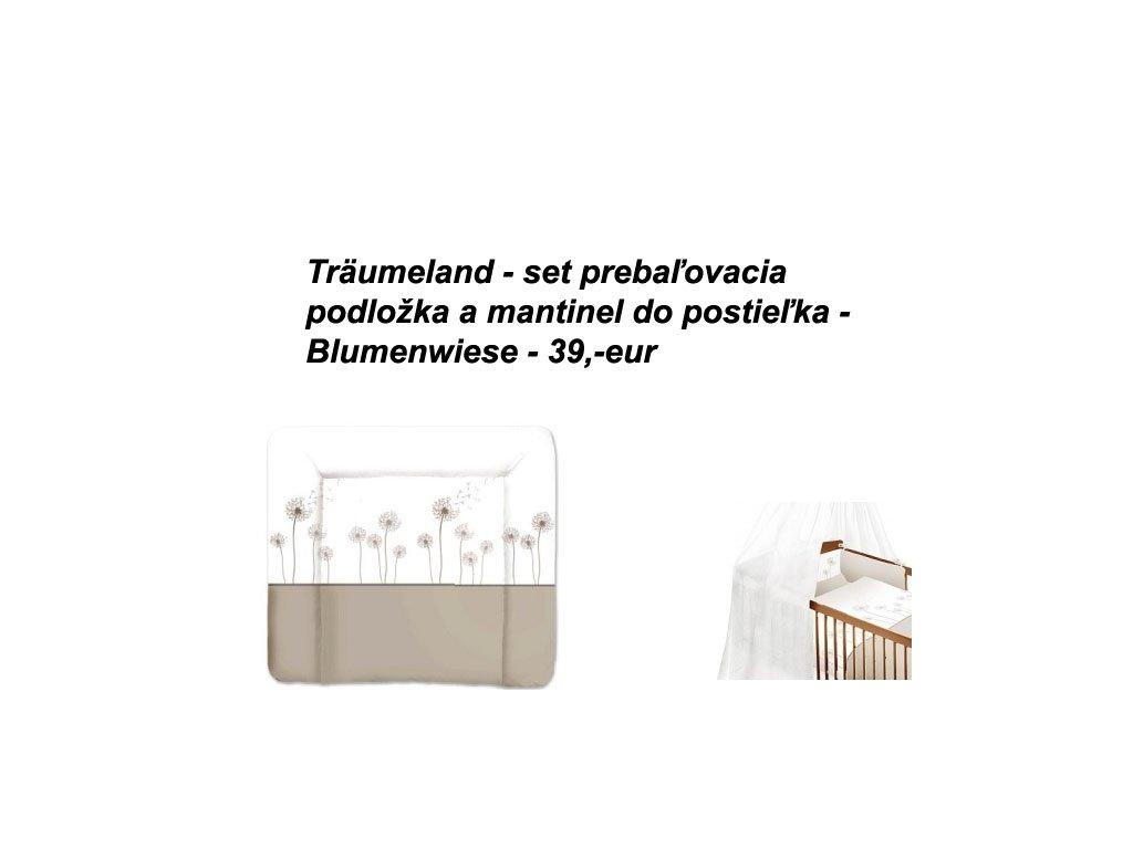 Träumeland Set - prebaľovacia podložka + mantinel do postieľky Blumenwiese