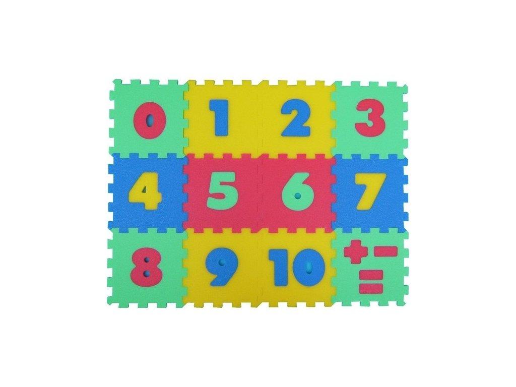 MALÝ GÉNIUS Penový koberec 12 - Čísla