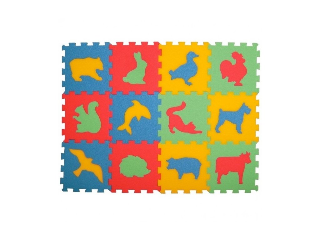 MALÝ GÉNIUS Penový koberec 12 - Zvieratá