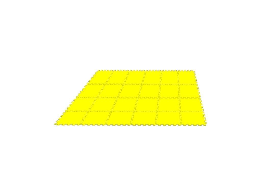 MALÝ GÉNIUS Penový koberec 24 - MAXI / jednofarebný žltý