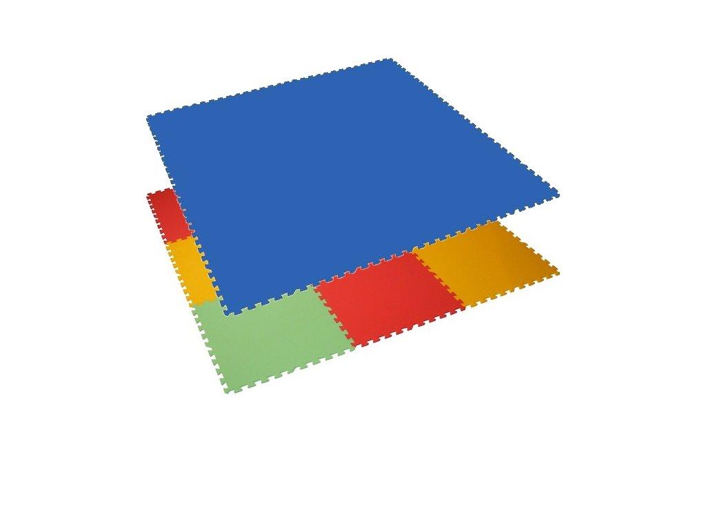 MALÝ GÉNIUS Penový koberec 9 - XL / jednofarebný - modrý
