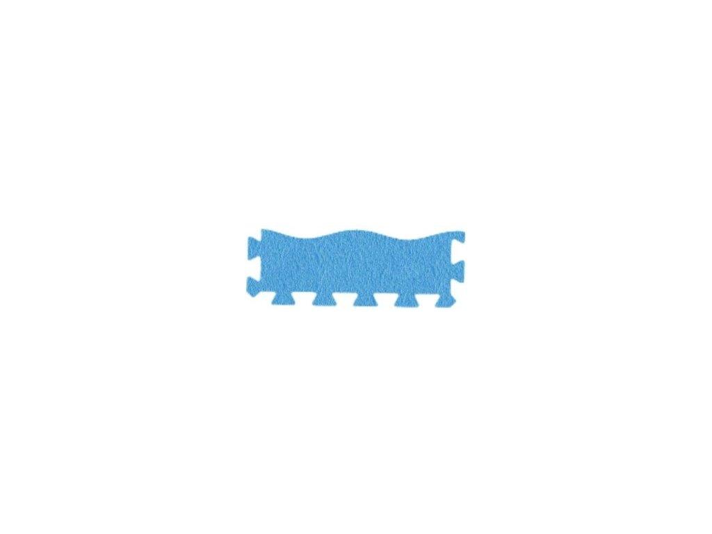 MALÝ GÉNIUS Penový koberec 24 - MAXI - VLNA / Súprava zakončovacích dielov - modrá
