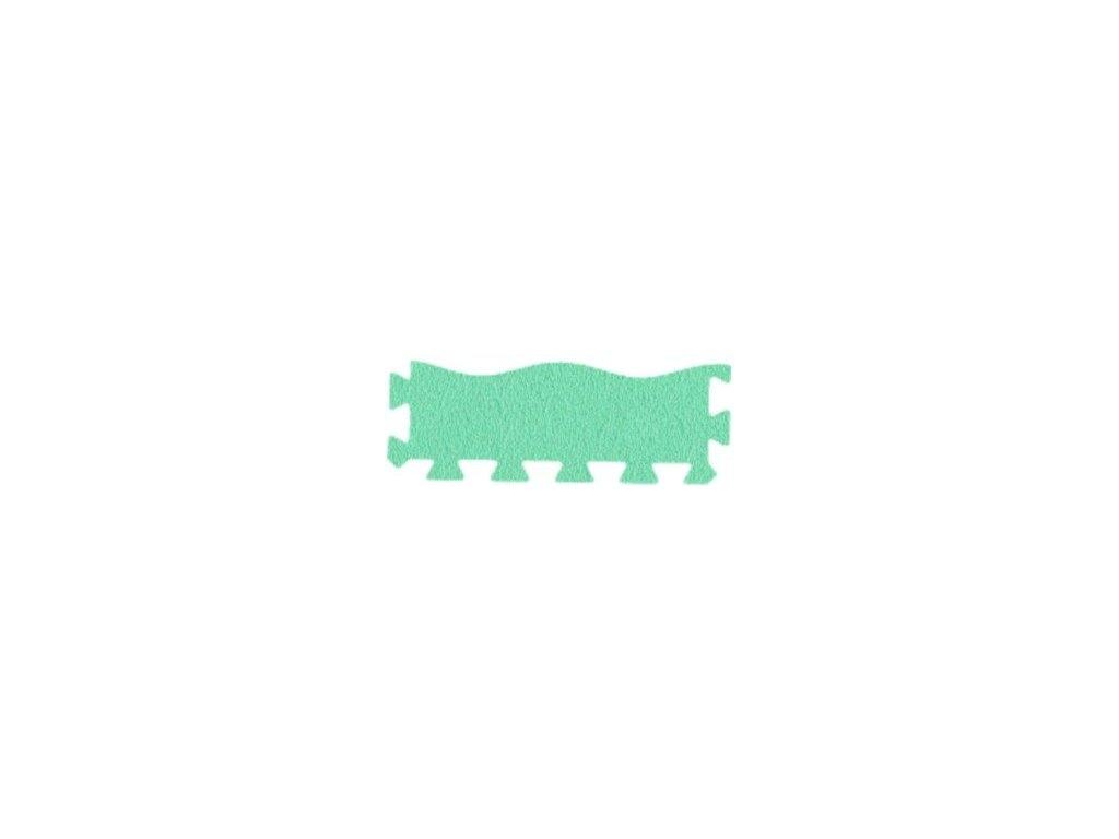 MALÝ GÉNIUS Penový koberec 24 - MAXI - VLNA / Súprava zakončovacích dielov - zelená
