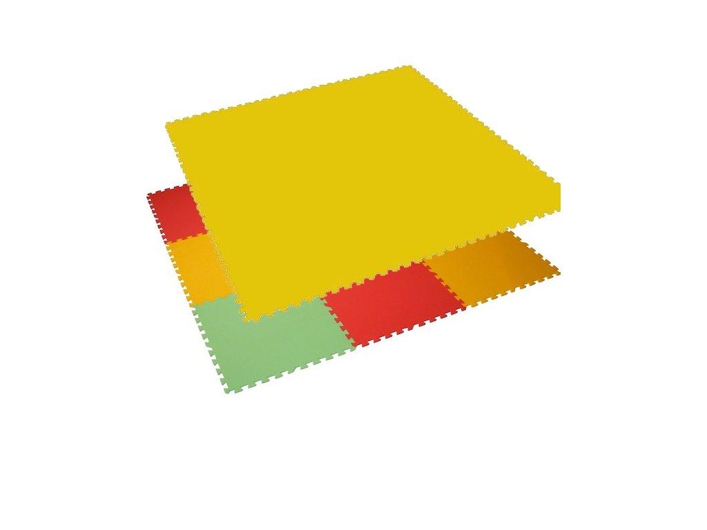 MALÝ GÉNIUS Penový koberec 12 - MAXI - hrubý / Jednofarebný - žltý