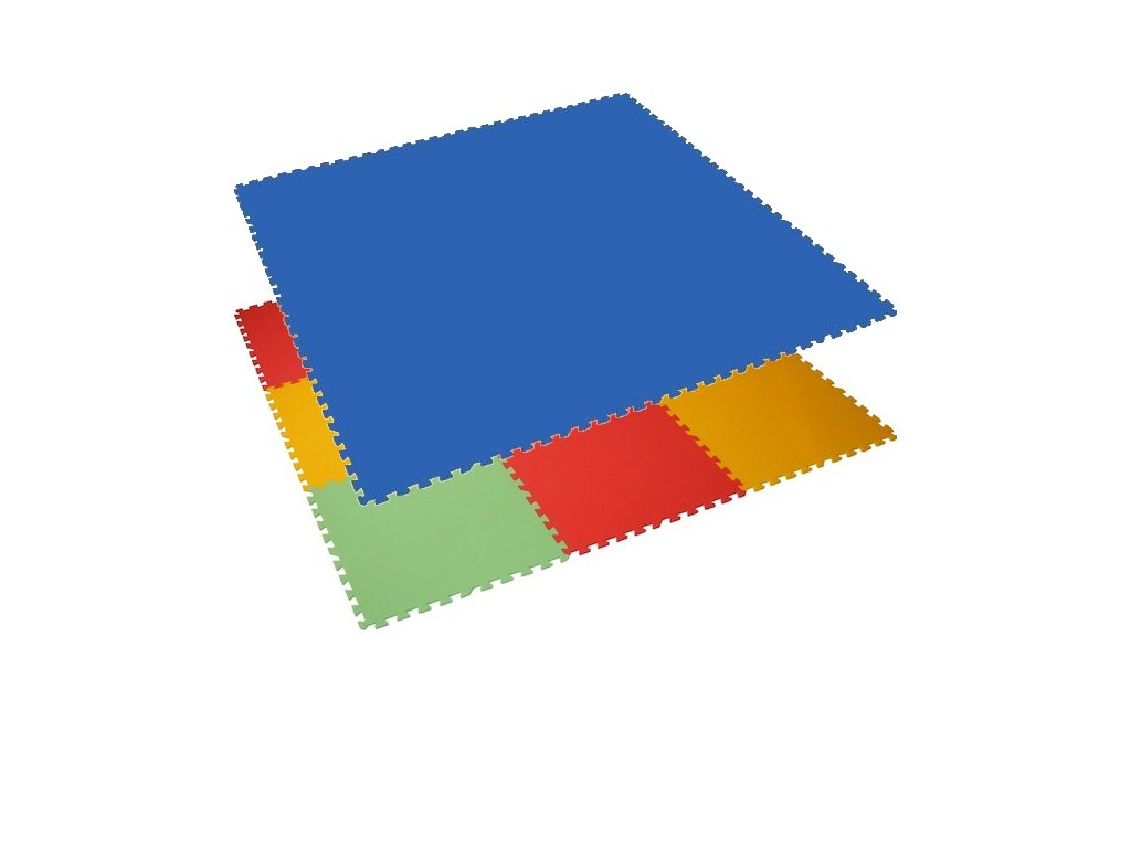 MALÝ GÉNIUS Penový koberec 6 - MAXI - hrubý / Jednofarebný - modrý