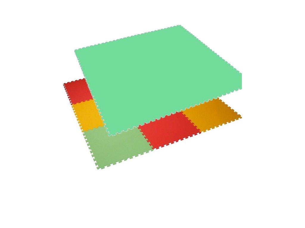 MALÝ GÉNIUS Penový koberec 6 - MAXI - hrubý / Jednofarebný - zelený