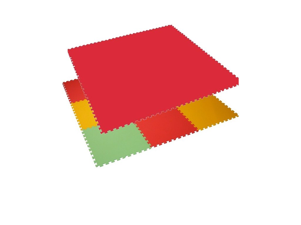 MALÝ GÉNIUS Penový koberec 9 - XL - hrubý / Jednofarebný - červený