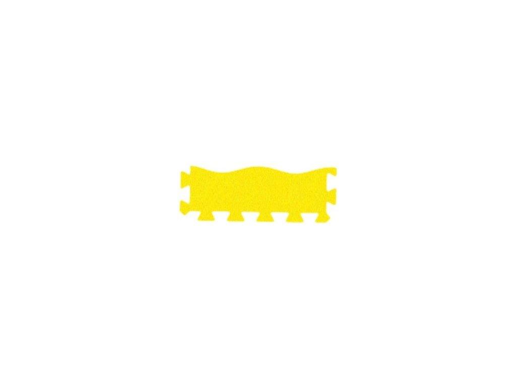 MALÝ GÉNIUS Penový koberec 36 - MAXI a 9 - XL VLNA - hrubý / Súprava zakončovacích dielov - Jednofarebná - žltá