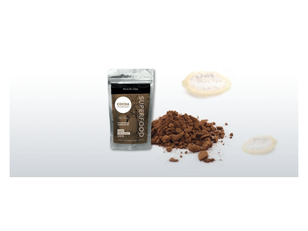 HEALTH LINK - BIO RAW Kakaový prášok ARRIBA - 250 gr