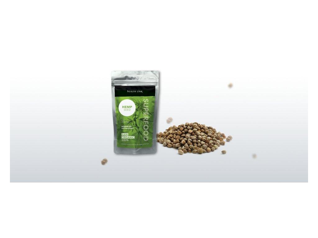 HEALTH LINK - BIO RAW Konopné semienka lúpané - 250 gr