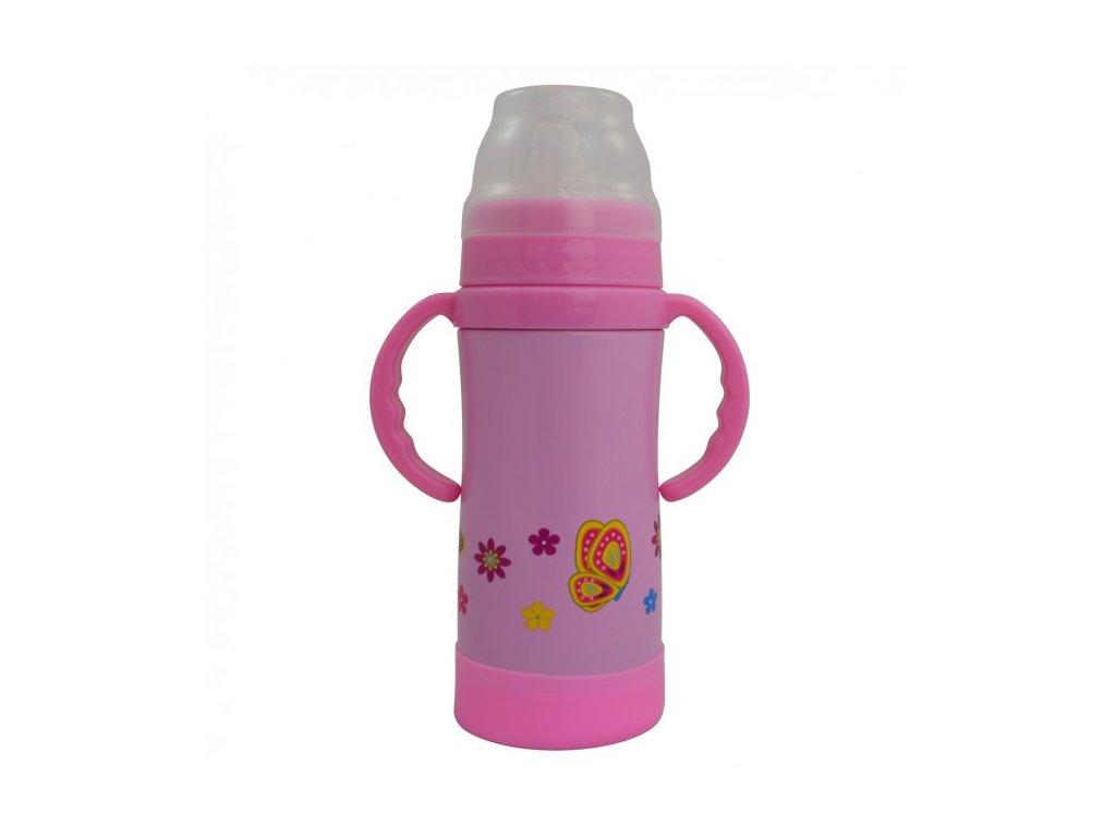 Eco Vessel Detská termo fľaša 300 ml - ružová - Kmart.sk 30ad3eb8078