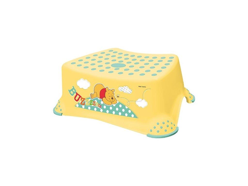 """OKT Stupienok k umývadlu """"Winnie Pooh"""" - žltý"""
