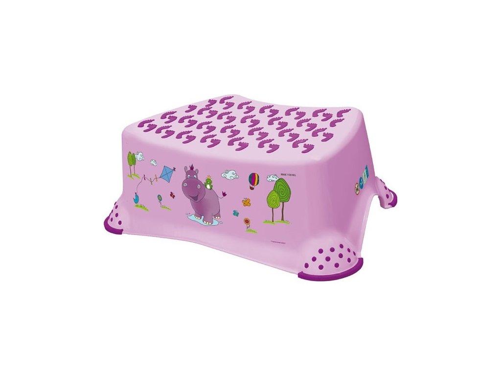 """OKT Stupienok k umývadlu """"Hippo"""" - fialový"""