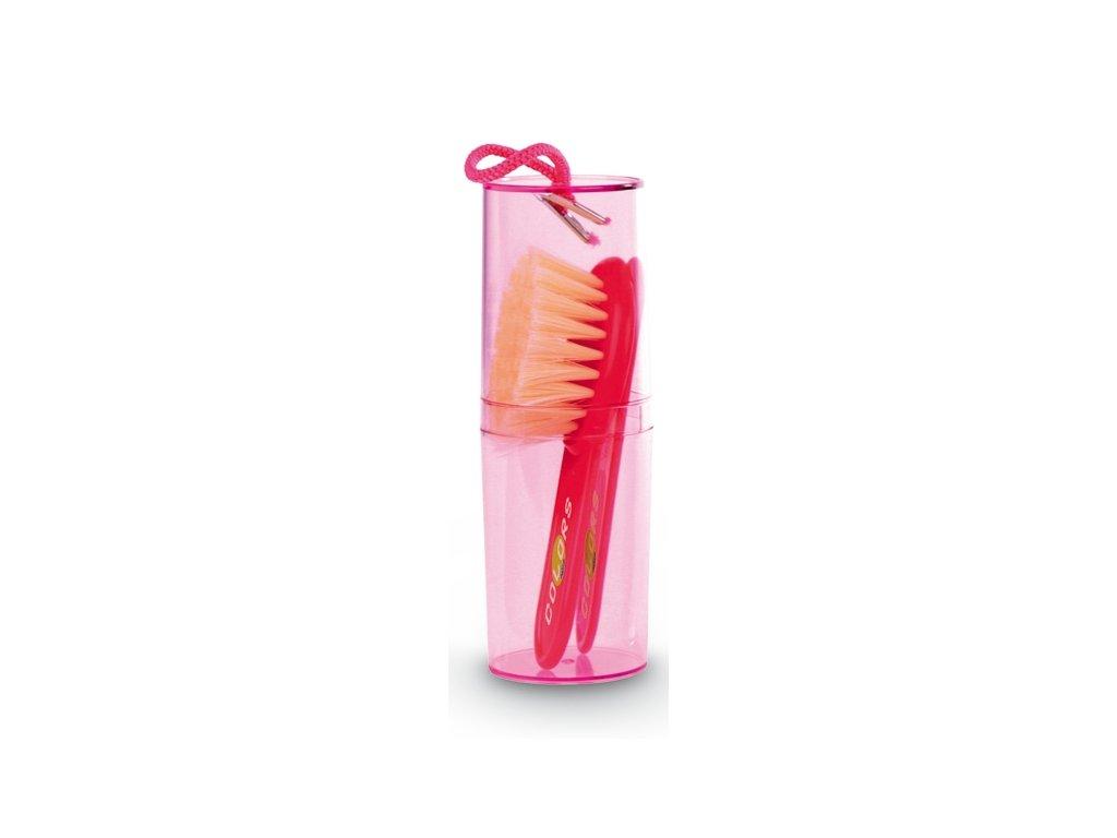 Jané Hrebeň a kefka na vlasy - ružová