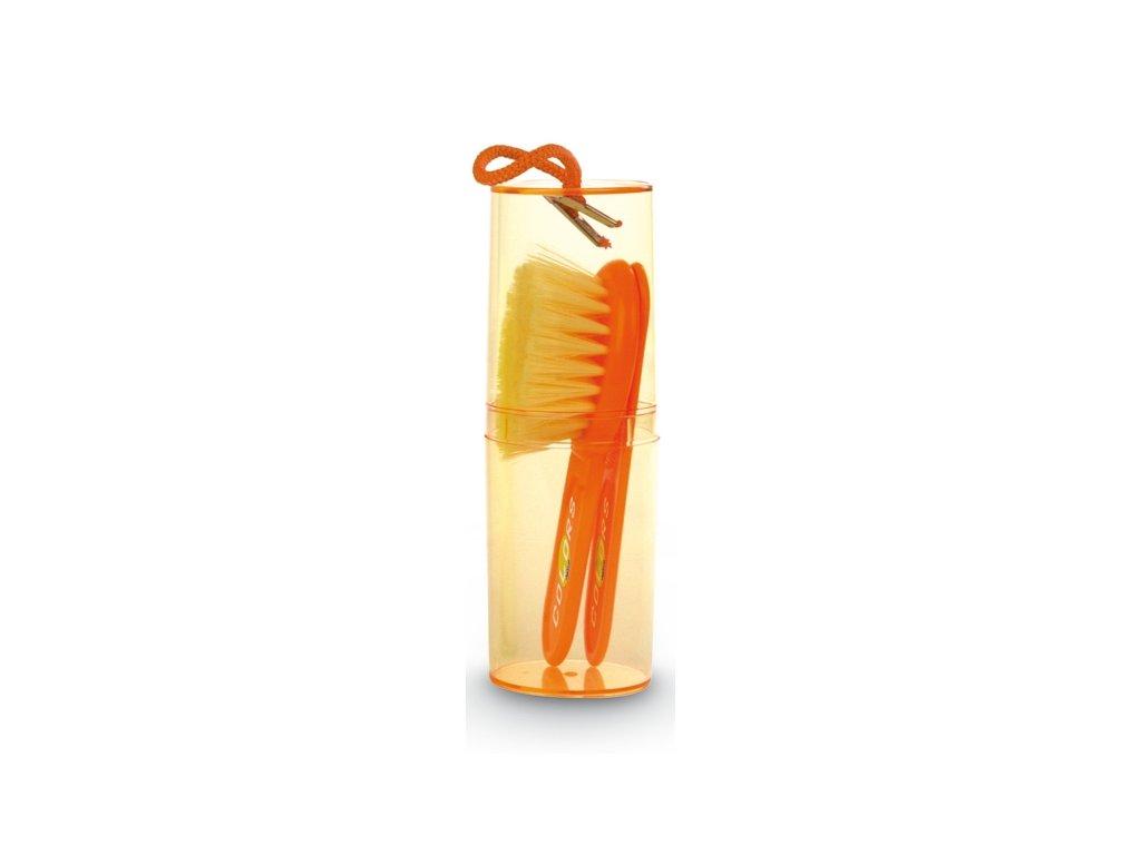 Jané Hrebeň a kefka na vlasy - oranžová