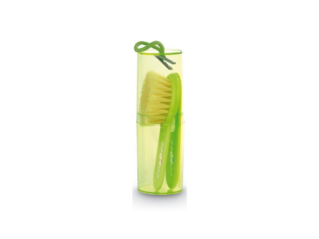 Jané Hrebeň a kefka na vlasy - zelená