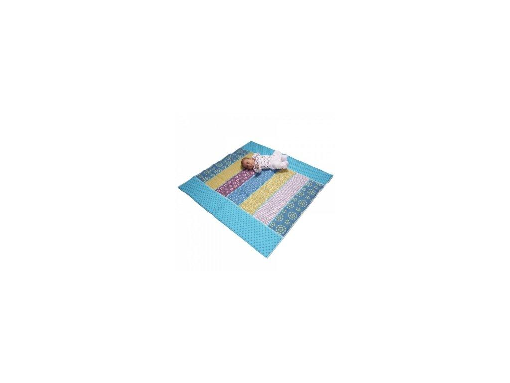 DaviDFussenegger Deka na hraní 100x100 cm modrá
